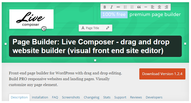 Live Composer Free Drag and Drop Website Builder