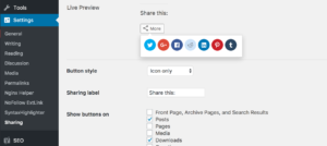 WordPress Floating Social Share Buttons using Jetpack