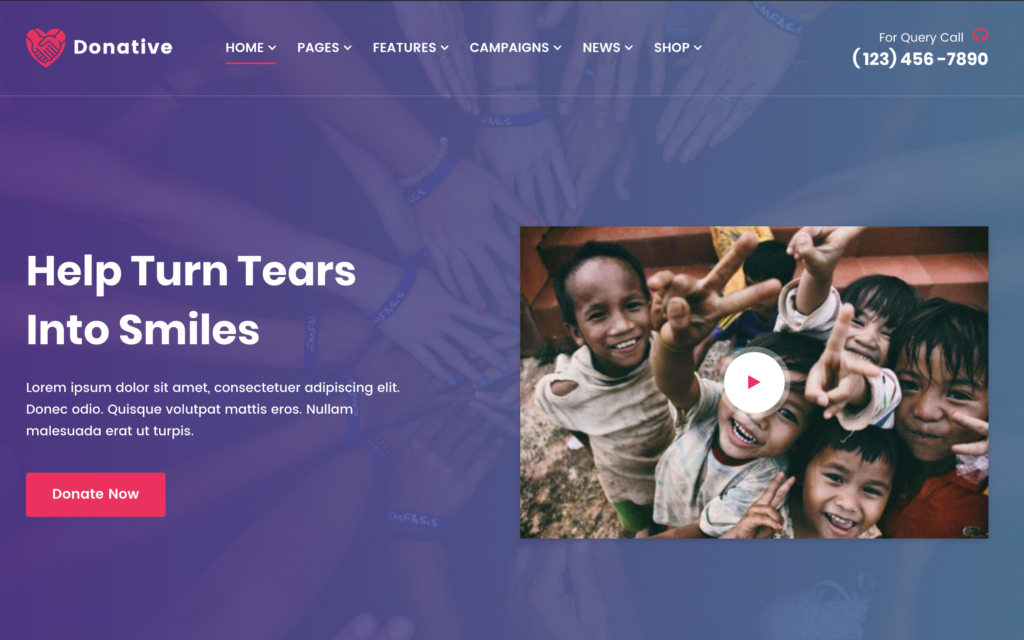 Donative - Donation WordPress Theme