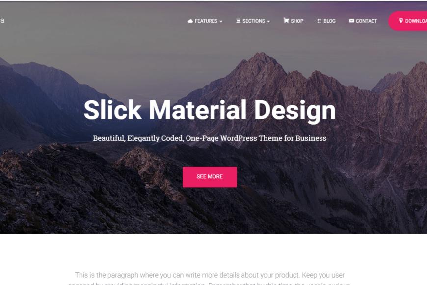 free material design WordPress theme