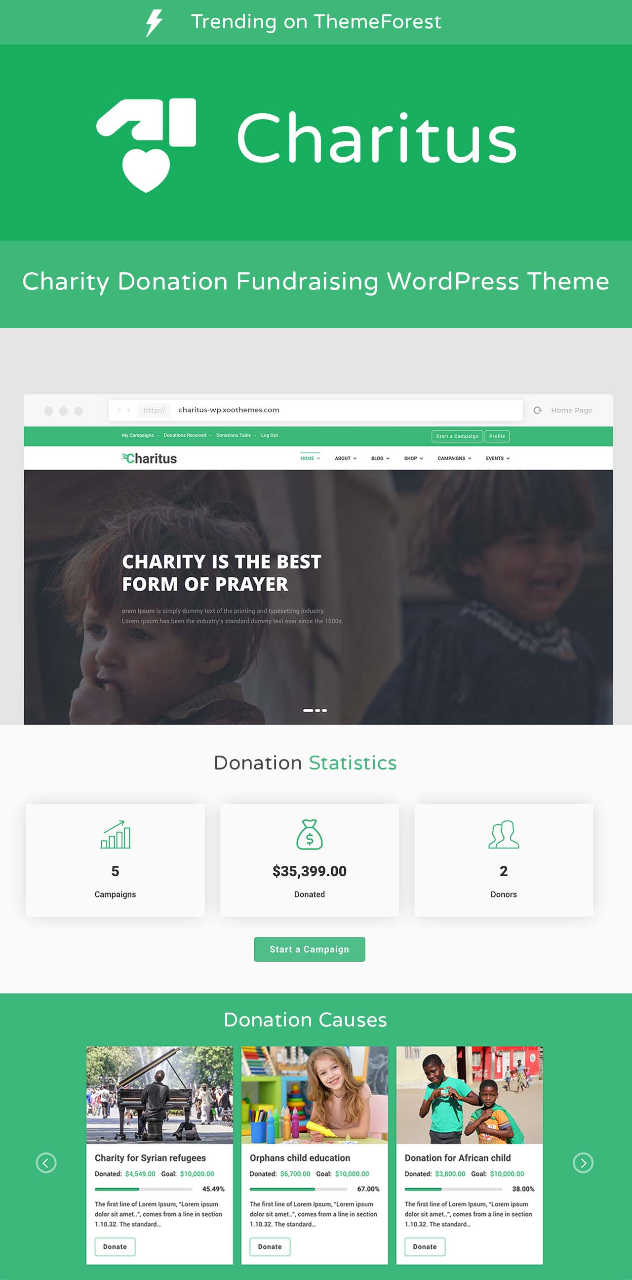 Charitus - Charity Donation Fundraising WordPress Theme