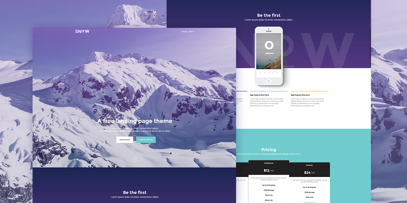 Free Bootstrap Landing Page Templates