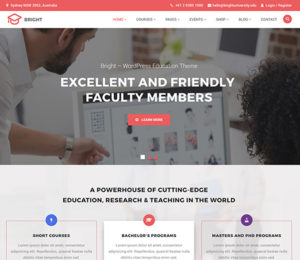 Bright - Education & Online Course WordPress Theme