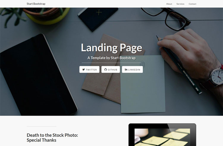 20 Free Bootstrap Landing Page Templates Xoothemes