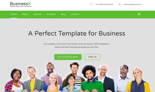 Free Bootstrap Business Website Template